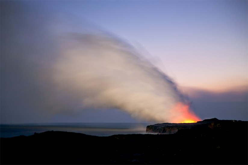 Lava Flow and Ocean, Pahoa, HI 2009 © David Ulrich