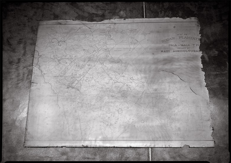 Map of Sugar Plantation, Baldwin Home, Makawao, Maui, HI 2001 © David Ulrich