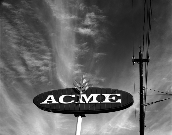 Acme Sign, Akron, Ohio 1972 © David Ulrich